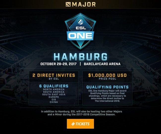 ESL One Hamburg будет первым мейджором в новом сезоне
