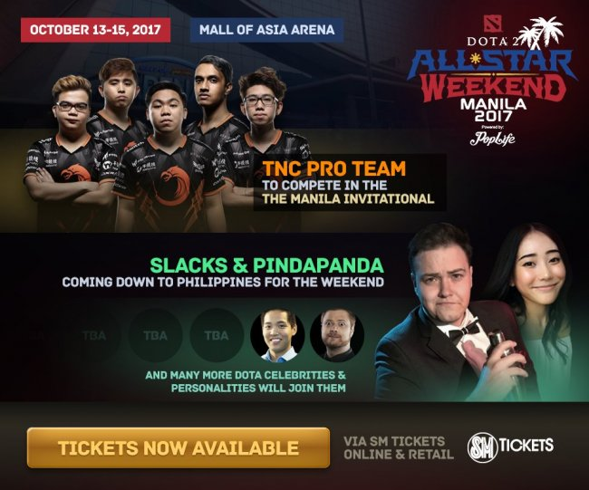 TNC пригласили на All-Star Weekend в Маниле, где будут снимать фильм про киберспорт