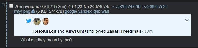 Resolut1on и w33 зафолловили Закари «Zfreek» Фридмана в твиттере
