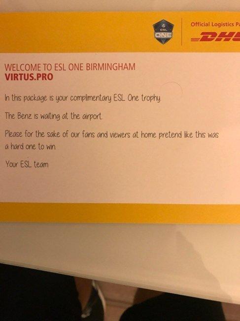 «Virtus.pro, пожалуйста, притворитесь, что вам сложно победить», сообщает ESL