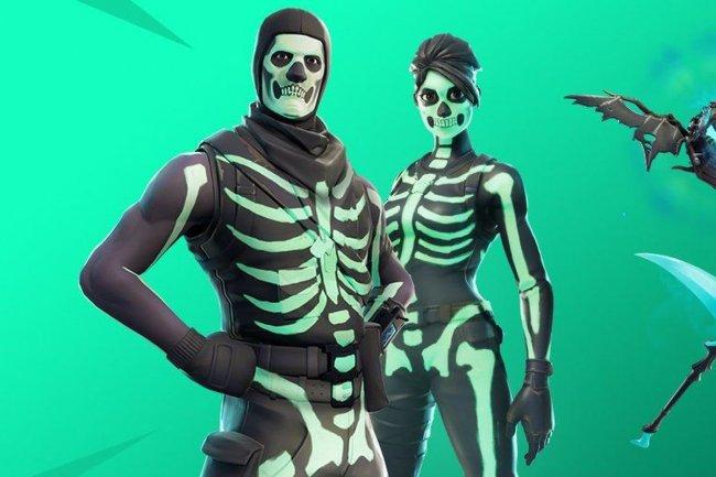 В Fortnite снова появился облик с изображением костей