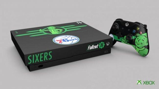 Microsoft выпустит Xbox One X в стиле Fallout 76 и клуба НБА «Сиксерс» - Игры