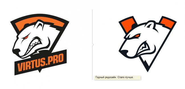Студия Лебедева одобрила обновленный логотип Virtus.pro