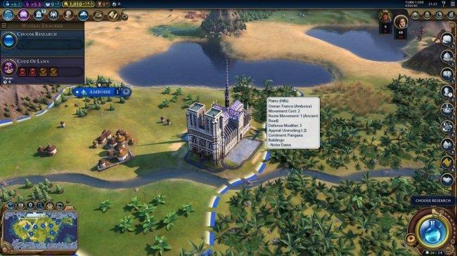 Моддеры добавили Нотр-Дам в Civilization VI. Средневековое чудо света - Игры
