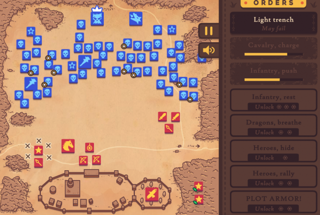 Зритель «Игры Престолов» создал браузерную стратегию про битву за Винтерфелл. Уверен, что войско живых могло лучше обороняться - Игры