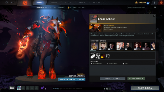 Valve оставила черновой вариант иконки способности у предмета на CK из Trove Carafe