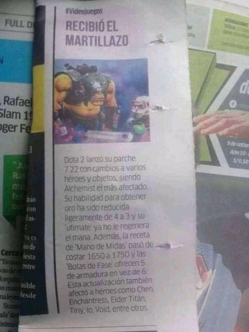 О нерфе Алхимика написали в перуанской газете