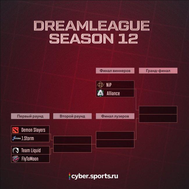 FlyToMoon и Team Liquid попали в нижнюю сетку DreamLeague S12, Alliance и Ninjas in Pyjamas вышли в финал верхней сетки