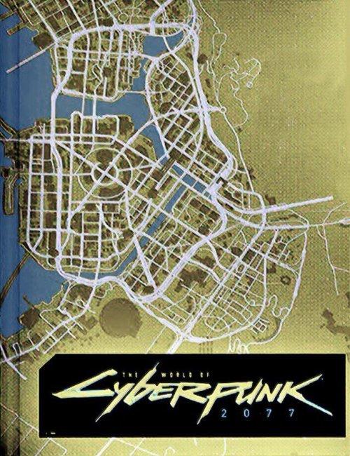 Анонсировали артбук Cyberpunk 2077. В нем видна часть будущей карты из игры - Игры