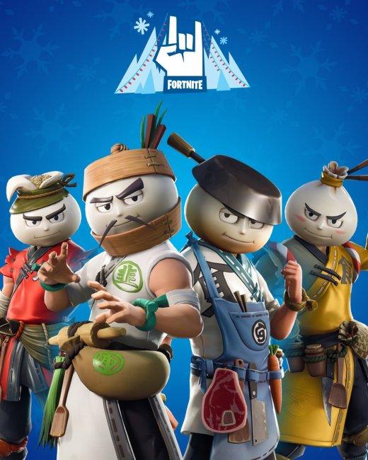 В Fortnite добавили скины братьев Бао в форме пельменей - Игры