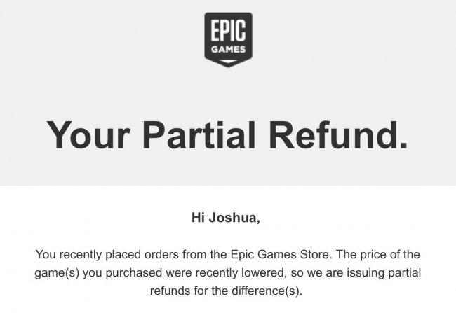 Epic Games возвращает часть денег пользователям за игры, на которые вскоре появились скидки - Игры