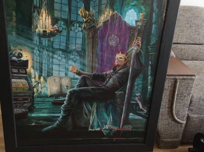 Папич продает свой портрет за миллион рублей