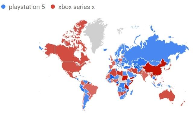 Xbox ищут в Google чаще, чем PlayStation, в Казахстане PS интересуются больше. В Японии Xbox Series X по запросам опережает PlayStation 5 - Игры