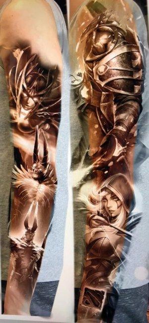 EternalEnvy сделал татуировку с героем Dota 2