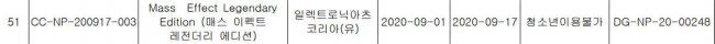 Legendary Edition получила возрастной рейтинг в Корее, сообщает Mass Effect - Игры
