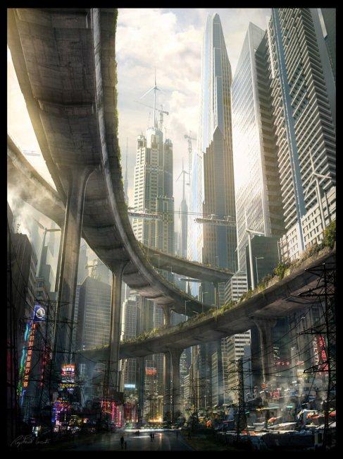 Арт-директор Ubisoft опубликовал кадры из игры в стиле киберпанка – концептам уже 10 лет - Игры