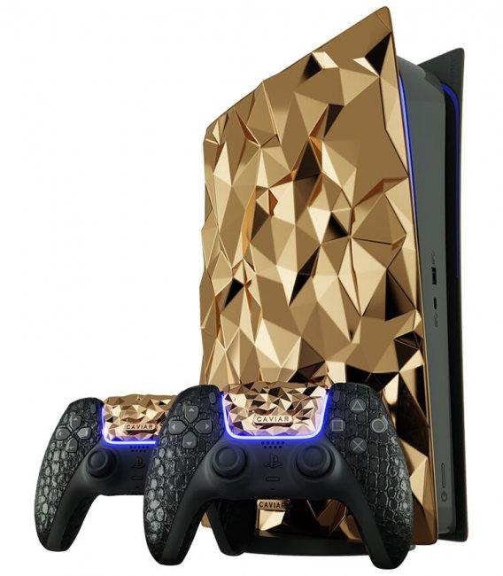 Российские ювелиры выпустят золотую PS5 с геймпадом из кожи крокодила - Игры