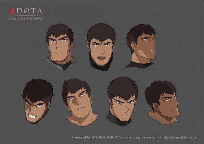 Опубликованы эскизы Дэвиона из аниме DOTA: Dragon`s Blood