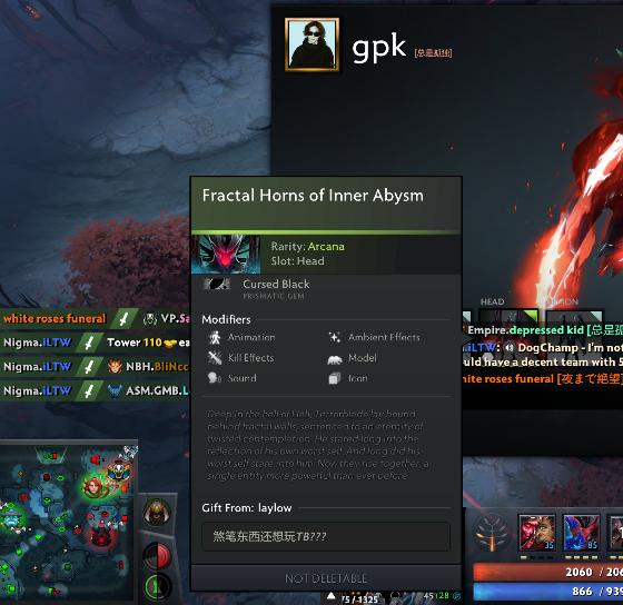 Gpk использует аркану на Террорблейда с подписью «Не играй на Террорблейде, придурок»