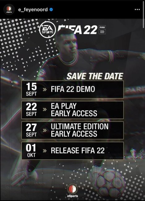 Демоверсия FIFA 22 выйдет 15 сентября, ранний доступ откроется 22 сентября - Игры