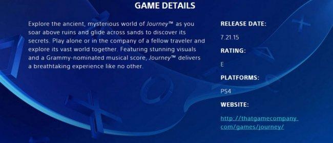 Приключение Journey может выйти на PS4 уже в июле